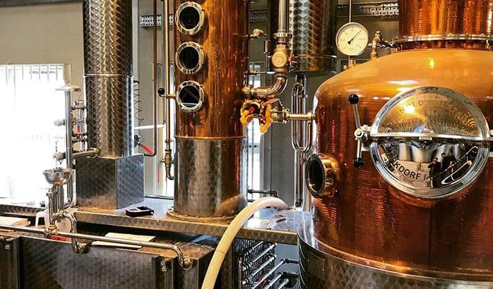 distilling gin