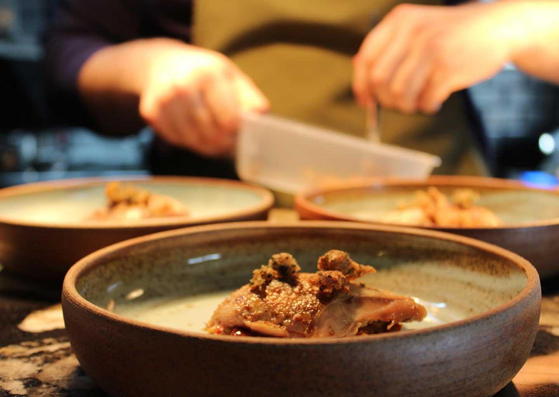 Serving a dish
