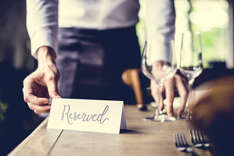 Private dining reserved