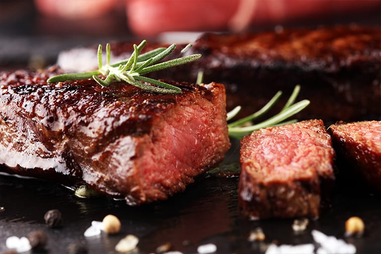 Private dining steak
